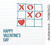 happy valentine's day xoxo tick ... | Shutterstock .eps vector #243865621