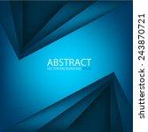modern blue background overlap...   Shutterstock .eps vector #243870721