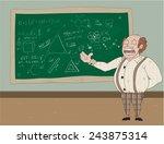 professor speaking on...   Shutterstock .eps vector #243875314