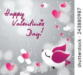 valentines day card with a...   Shutterstock .eps vector #243880987