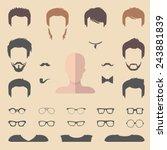 big vector set of dress up... | Shutterstock .eps vector #243881839