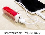 Smartphone Charged By Power...