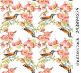 seamless pattern with wild...   Shutterstock . vector #243894379