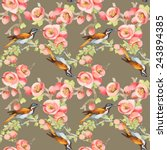 seamless pattern with wild... | Shutterstock . vector #243894385