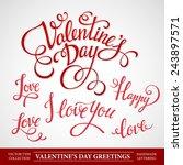 typography valentine's... | Shutterstock .eps vector #243897571
