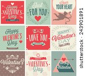 valentine s day card set.... | Shutterstock .eps vector #243901891