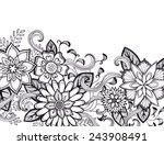a classy flower border in black ... | Shutterstock . vector #243908491