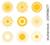 vector sun icon set | Shutterstock .eps vector #243908677