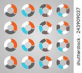 vector circle arrows for... | Shutterstock .eps vector #243909037