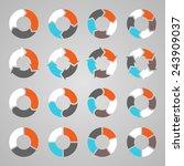 vector circle arrows for... | Shutterstock .eps vector #243909037