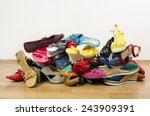 big pile of colorful woman... | Shutterstock . vector #243909391