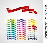 vector ribbons set | Shutterstock .eps vector #243915445