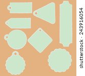 set of tags. | Shutterstock .eps vector #243916054