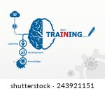 vector training. business... | Shutterstock .eps vector #243921151