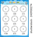 Telling Time Worksheet For Pre...