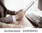 business people discussing the...   Shutterstock . vector #243930451