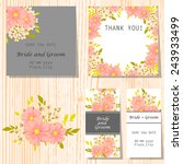 set of invitations with floral... | Shutterstock .eps vector #243933499