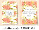 set of invitations with floral... | Shutterstock .eps vector #243933505