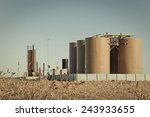 storage tanks and treater for... | Shutterstock . vector #243933655