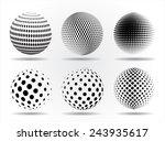 halftone sphere.halftone vector ... | Shutterstock .eps vector #243935617