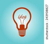 light lamp sign icon. idea... | Shutterstock .eps vector #243938827