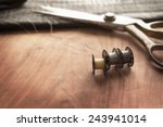 Old Sewing Machine Bobbins With ...