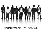 silhouettes group of casual...   Shutterstock .eps vector #243942937