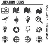 map icons. gps and navigation....