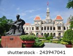 statue of ho chi minh and... | Shutterstock . vector #243947041