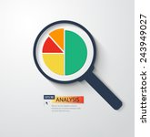business analysis magnifying... | Shutterstock .eps vector #243949027
