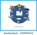flat design modern vector... | Shutterstock .eps vector #243949141