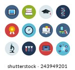 flat style education and... | Shutterstock .eps vector #243949201
