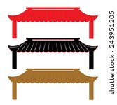 Roof Traditional China Vector