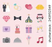 wedding icon | Shutterstock .eps vector #243952549