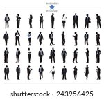 silhouettes of business people... | Shutterstock .eps vector #243956425