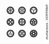 wheel icons   element wheels... | Shutterstock .eps vector #243959869