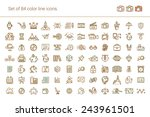 big set of linear icons.... | Shutterstock .eps vector #243961501
