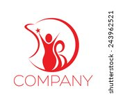 abstract woman logo | Shutterstock .eps vector #243962521