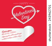 happy valentines day   heart... | Shutterstock .eps vector #243962701