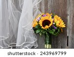 wedding bouquet of sunflower | Shutterstock . vector #243969799