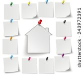 infographic with gray stickers... | Shutterstock .eps vector #243972391