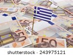 flag of greece sticking in... | Shutterstock . vector #243975121