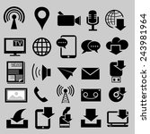 media and download icons.vector | Shutterstock .eps vector #243981964