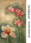 oil painting orchid flower | Shutterstock . vector #24398233