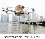 3d image of futuristic delivery ... | Shutterstock . vector #244004761