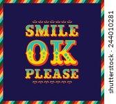 smile poster | Shutterstock .eps vector #244010281