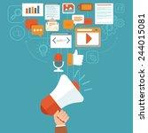 vector digital marketing...   Shutterstock .eps vector #244015081