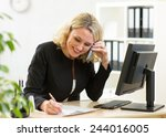 smiling middle aged business... | Shutterstock . vector #244016005