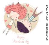 Valentine's Day. Lovely Girl...