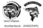 trout fishing | Shutterstock .eps vector #244025491